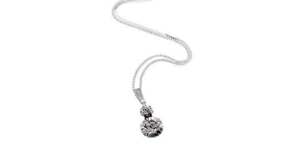 Stříbrný náhrdelník Swarovski Elements duo