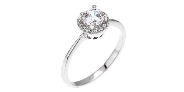 Dámský luxusní prsten s bílým zirkonem Afrodite