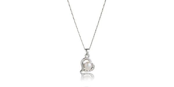 Dámský náhrdelník Swarovski Elements s perlou a krystaly