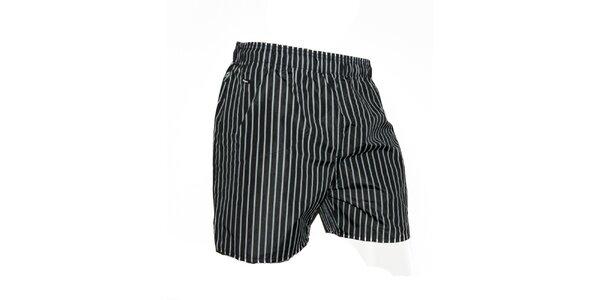Pánské černé plavky s proužky Exe Jeans