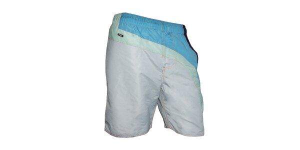 Pánské bílé plavky s barevnými pruhy Exe Jeans