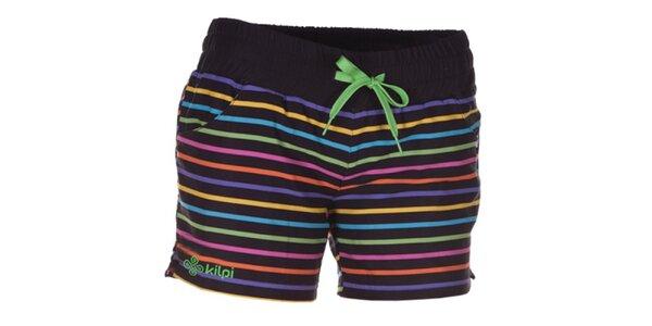 Dámské barevně pruhované šortky Kilpi
