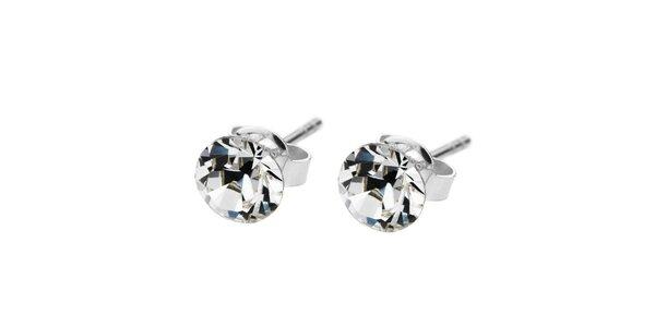 Stříbrné náušnice Swarovski Elements s kulatými krystaly