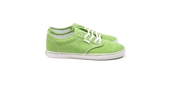 Dámské zelené textilní boty Vans