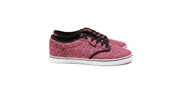 Dámské růžové vzorované tenisky Vans