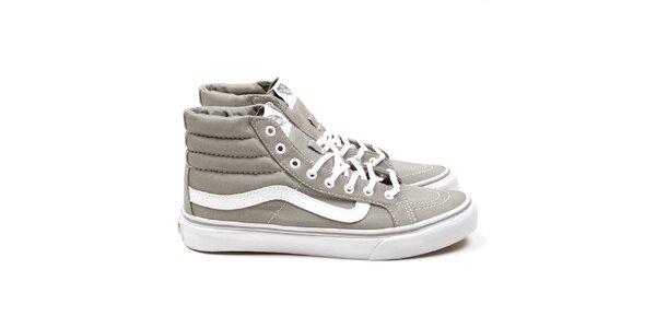 Unisexové šedé kotníkové tenisky Vans