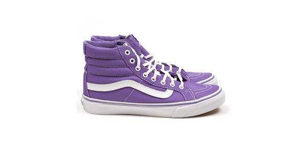 Unisexové fialové kotníkové tenisky Vans