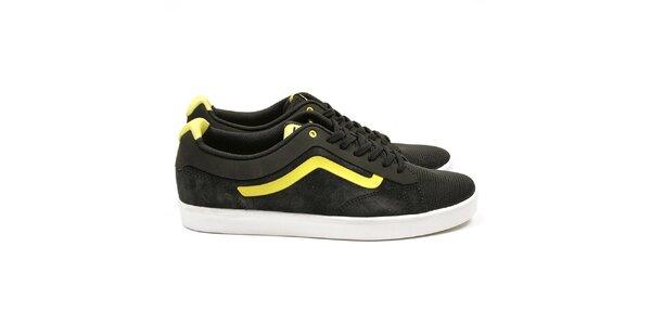 Pánské černé tenisky se žlutými detaily Vans