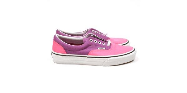 Unisexové růžovo-fialové tenisky Vans