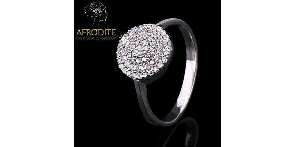 Dámský zirkonový prsten Afrodite