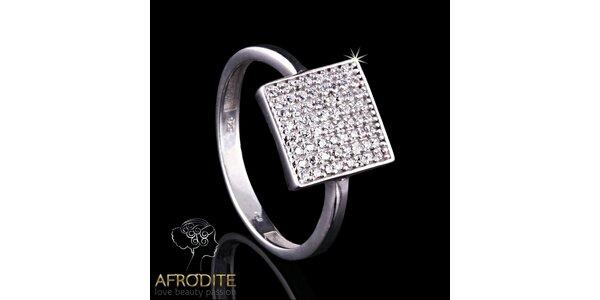 Dámský hranatý prsten Afrodite