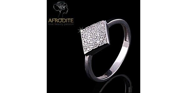 Dámský stylový prsten s bílými zirkony Afrodite