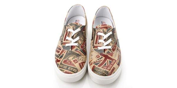 Pánské boty s poštovními známkami Elite Goby
