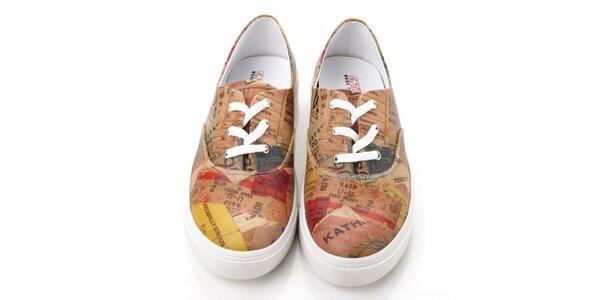 Pánské barevné boty s potiskem Elite Goby