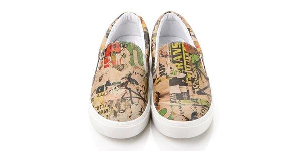 Pánské barevné loafers s potiskem Elite Goby