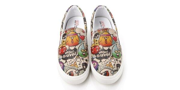 Pánské loafers s barevným potiskem Elite Goby