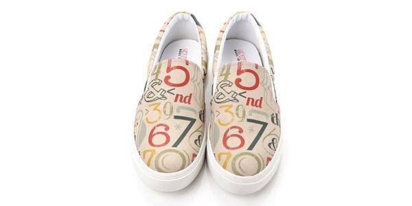 Pánské loafers s čísly Elite Goby