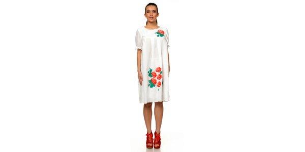 Dámské bílé šaty s růžemi Joseph Alessander