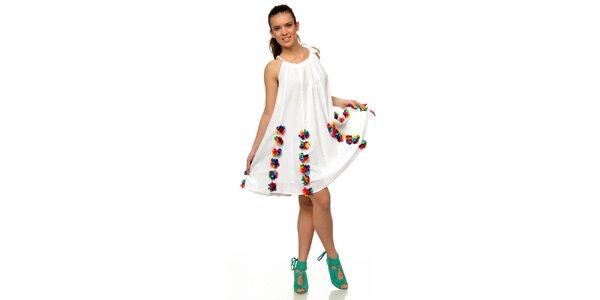 Dámské květinové šaty v bílé barvě Joseph Alessander