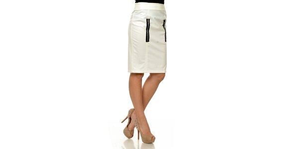 Dámská bílá koženková pouzdrová sukně Joseph Alessander