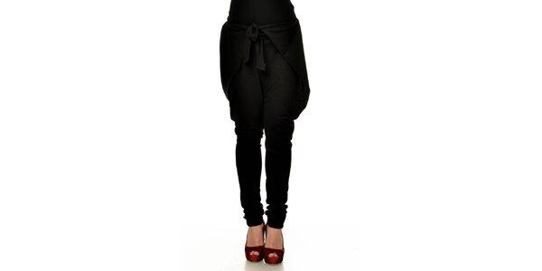 Dámské černé zavazovací harémové kalhoty Joseph Alessander