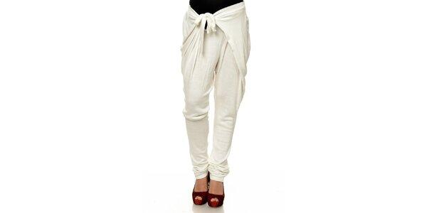 Dámské bílé zavazovací harémové kalhoty Joseph Alessander