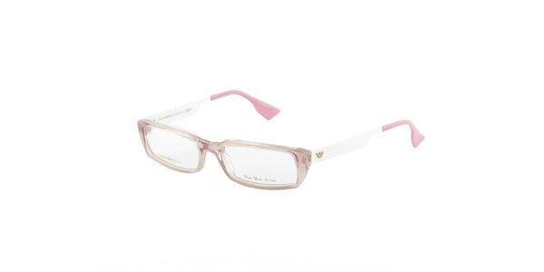 Dámské růžovo-bílé dioptrické obroučky Emporio Armani