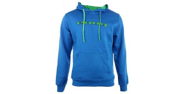 Pánská modrá mikina Envy se zeleným logem