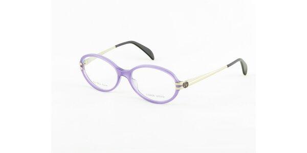 Dámské fialovo-stříbrné dioptrické obroučky Giorgio Armani