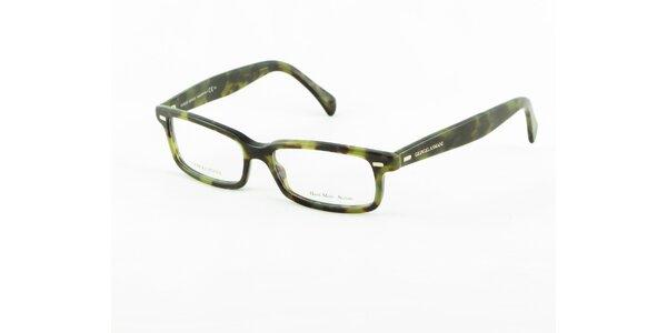 Zelené želvovinové dioptrické obroučky Giorgio Armani