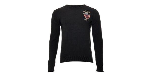 Ležérní pánský svetr značky Deeluxe v antracitové barvě