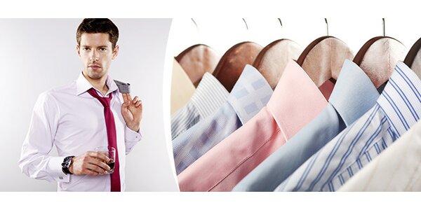Profesionální žehlení košil s vyzvednutím a doručením