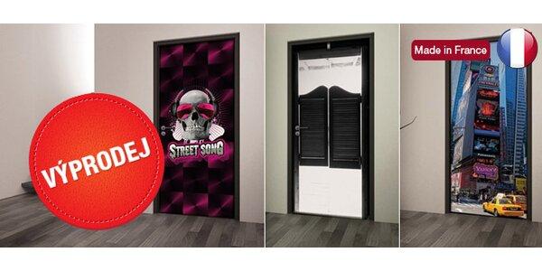 Designové fototapety na dveře z Francie