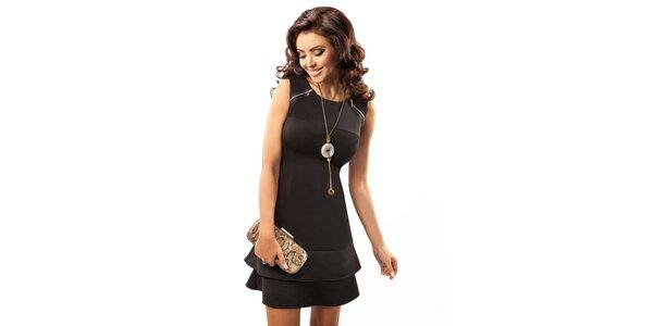 Dámské černé elegantní šaty bez rukávů Enny