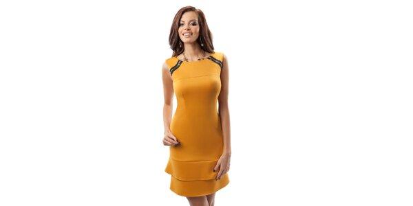Dámské tmavě žluté šaty Enny