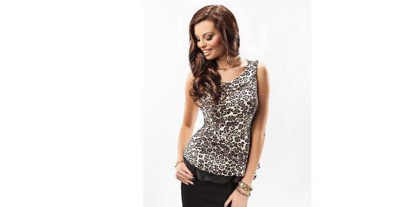 Dámský top s leopardím vzorem Enny
