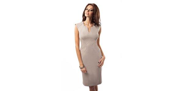 Dámské elegantní šaty s dekorativním výstřihem Enny