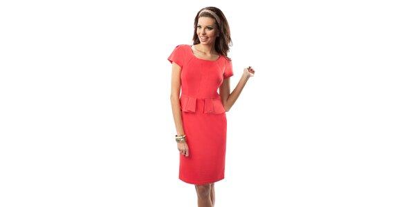 Dámské šaty v korálové barvě Enny