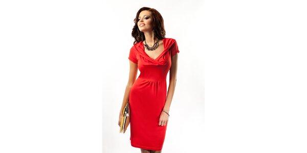 Dámské červené šaty s překříženým výstřihem Enny