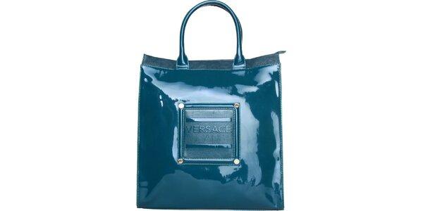 Dámská tyrkysová lakovaná kabelka Versace Jeans