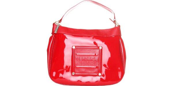 Dámská červená lakovaná kabelka Versace Jeans