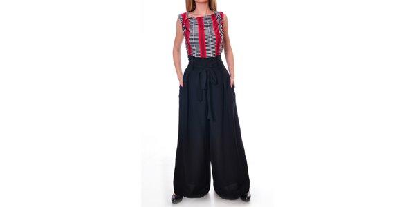 Dámské široké kalhoty v černé barvě Daka