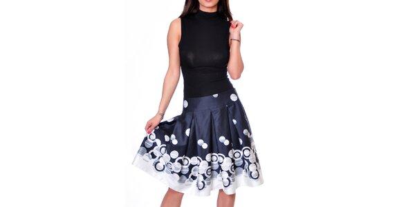 Dámská tmavě modrá sukně se vzorem Daka