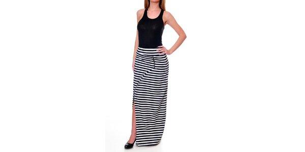 Dámská proužkovaná asymetrická sukně DAKA