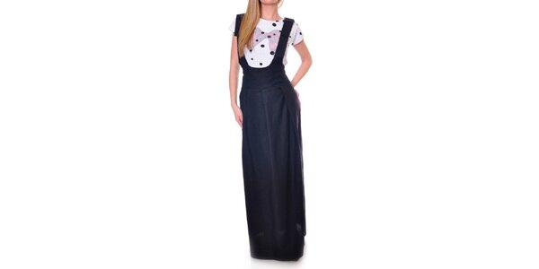 Dámská černá sukně s ramínky DAKA