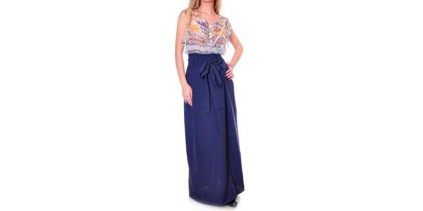 Dámská dlouhá modrá sukně Daka