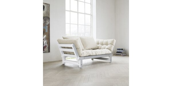 Rozkládací sofa KARUP BEAT FSC WHITE/NATURAL