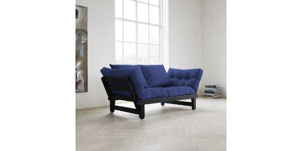 Rozkládací sofa KARUP BEAT PINE FSC BLACK/ROYAL