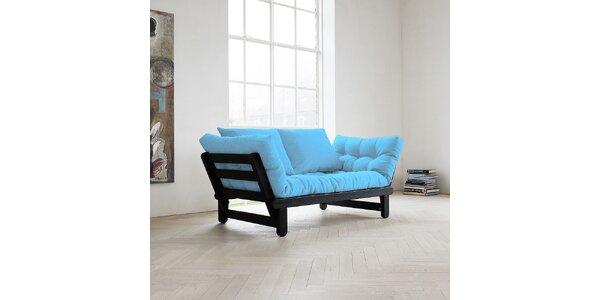 Rozkládací sofa KARUP BEAT PINE FSC BLACK/CELESTE