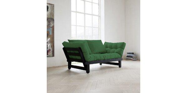 Rozkládací sofa KARUP BEAT PINE FSC BLACK/BOTELLA